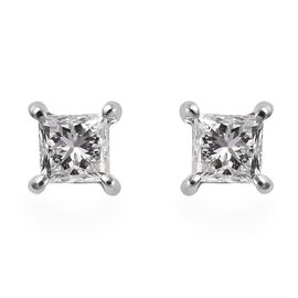 RHAPSODY 950 Platinum SGL Certified Diamond (VS/E-F) Stud Earrings (with Screw Back) 0.53 Ct.