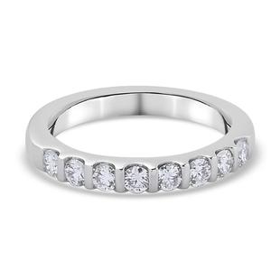 RHAPSODY 950 Platinum IGI Certified Natural Diamond (VS/E-F) Band Ring 0.50 Ct.