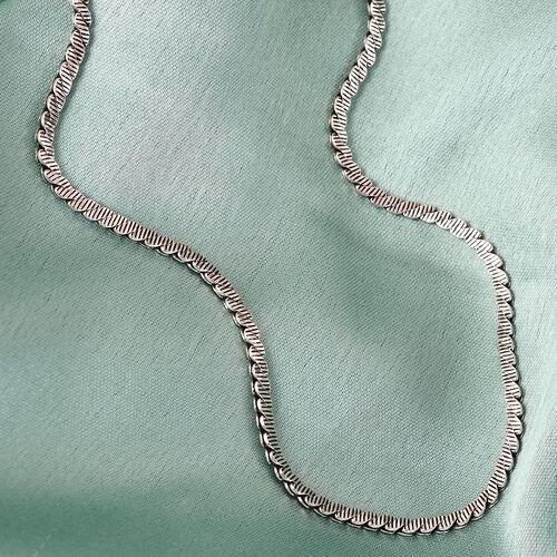 Handmade Sterling Silver Necklace (Size 20), Sliver Wt. 11.57 Gms