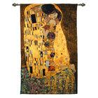 Signare Tapestry - Wall Hanging - Gustav Klimt The Kiss (Size 90x138 Cm)