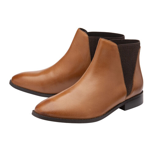 Ravel Sabalo Leather Ankle Boots (Size 4) - Tan