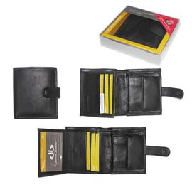 Close Out Deal 100% Genuine Leather RFID Blocking Tri- Folded Mens Wallet (Size 9x10mm) - Tri-Fold W