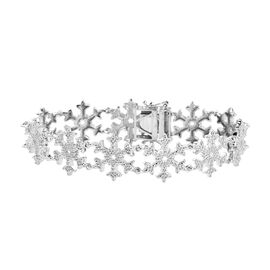 Designer Inspired- Diamond Snowflake Bracelet (Size 7.5)