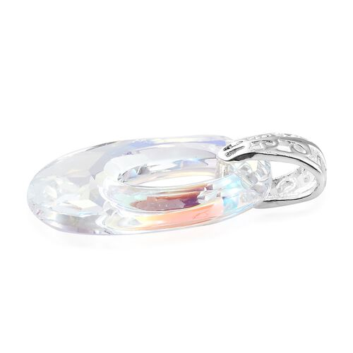 J Francis Crystal From Swarovski - AB Colour Crystal Pendnat in Sterling Silver