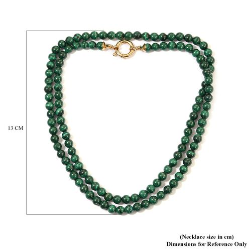 Sundays Child - SPECIAL ORDER - Malachite Beaded Necklace (Size 30) in Yellow Gold Vermeil Sterling Silver 300.00 Ct