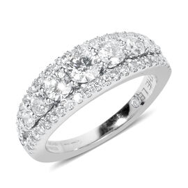 New York Close Out 14K White Gold Diamond (Rnd) (SI Clarity / G to H Colour) Ring 1.500 Ct., Gold wt 5.50 Gms.