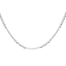 JCK Vegas Collection Alternate Margarita Necklace in Sterling Silver 7 Grams 18 Inch