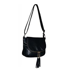 New Arrival Super Soft Multi Compartment Crossbody Bag ( Size : 22x20x6 cm) -Black