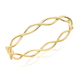 9K Yellow Gold Infinity Bangle (Size 7), Gold wt 8.30 Gms