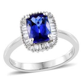 RHAPSODY 950 Platinum AAAA Tanzanite (Cush), Diamond (VS/E-F) Ring 2.000 Ct.