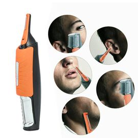 Multipurpose 2-in-1 Hair Trimmer (Size 16.5x4x2.5cm) - Orange and Black