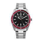 Ben Sherman London Mens Black Dial with Red Bezel Case Watch with Chain Strap