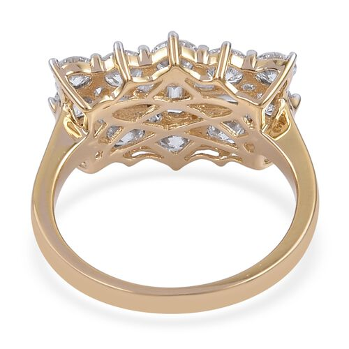 Collectors Edition- ILIANA 18K Yellow Gold IGI Certified Diamond (Bgt) (SI/G-H) Boat Cluster Ring 2.000 Ct.