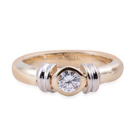 14K Yellow Gold (I1/G-H) Diamond (Rnd) Ring 0.350 Ct, Gold wt 6.00 Gms.