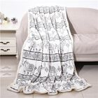 Elephant Printed Warm & Soft Double Layer Sherpa Blanket (150x200 cm)