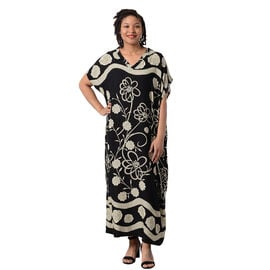 Floral Printed Long Dress in Black (Size 80x30cm)