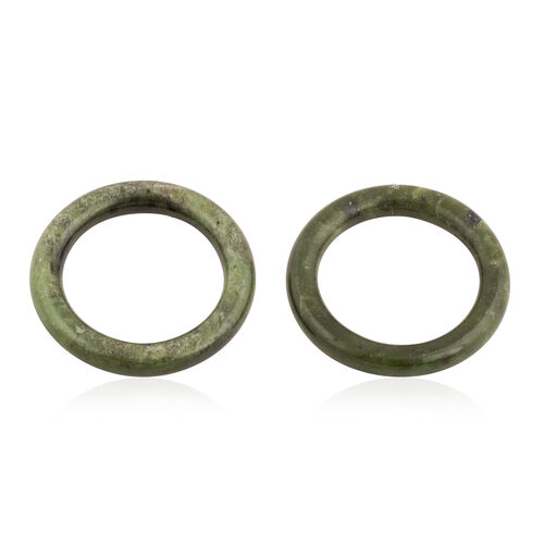 Set of 2 - Jade Napkin Holders 130.000 Ct.