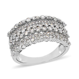 14K White Gold Diamond (I1-I2/G-H) Ring 1.00 Ct.