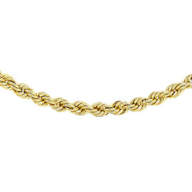 9K Yellow Gold Rope Chain (Size 20), Gold wt 4.40 Gms