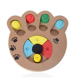 Multi Colour Wooden Pet IQ Training Toy (Size 24x23 Cm)