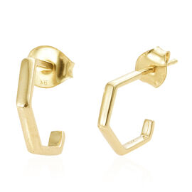 9K Yellow Gold Earrings (with Push Back)