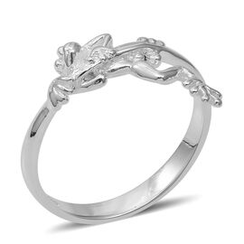 Frog Band Ring in Sterling Silver 2.83 Grams