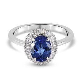 RHAPSODY 950 Platinum AAAA Tanzanite and Diamond(VS/E-F)  Ring 2.00 Ct.