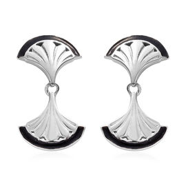 Platinum Overlay with Enamelling Sterling Silver Earrings (with Push Back)