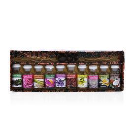 Gaya Warna: Essential Oil Set (Incl: Lavender, Lotus, Sandalwood, Rose, Night Queen, Lemongrass, Fra