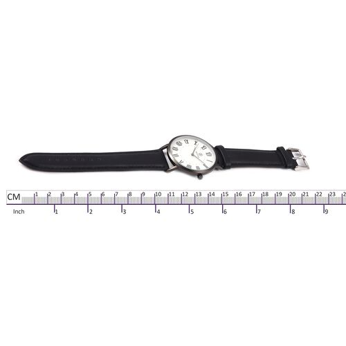 STRADA Japanese Movement Water Resistant Watch with Black Colour Strap