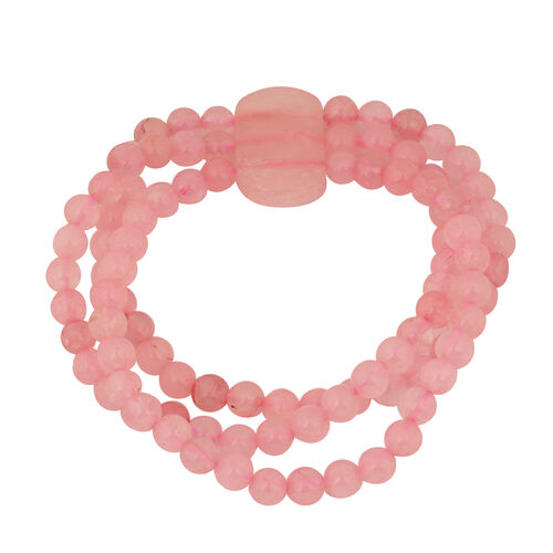 Rose Quartz Stretchable Bracelet (Size 7.5) 184.00 Ct.