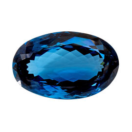 600.44 Carat AAA Oval Shape London Blue Topaz Size 66x42mm