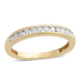 ILIANA 18K Y Gold IGI Certified Diamond (Rnd) (SI/G-H) Half Eternity Band Ring 0.250 Ct.