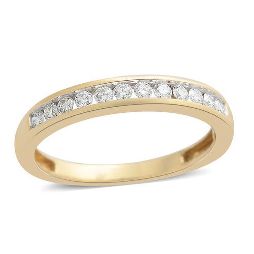 ILIANA 0.25 Carat IGI Certified Diamond Half Eternity Band Ring in 18K Gold