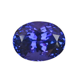 AAAA Tanzanite Oval 13.10X9.96X7.84 Faceted 6.95 Ct.