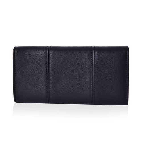 Kingston Dazzling Black Colour Long Wallet (Size 19.5x9x2.5 Cm)