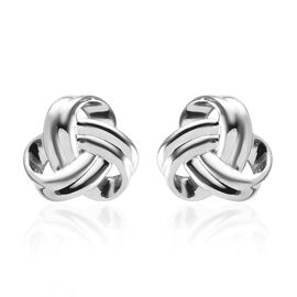 RHAPSODY 950 Platinum Knot Stud Earrings (with Screw Back), Platinum wt 3.10 Gms.