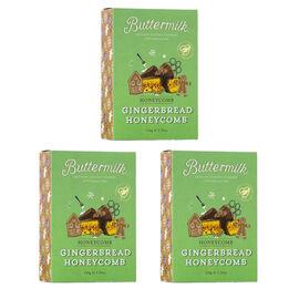 Buttermilk 3 x 150g Gingerbread Honeycomb sharing box