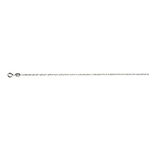 Italian Made - Sterling Silver Singapore Chain (Size 18), Silver wt. 7.53 Gms