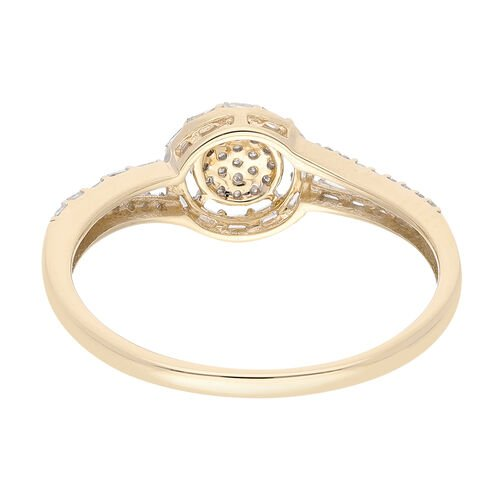 9K Yellow Gold SGL Certified Diamond (I3/G-H) Ring  0.250  Ct.