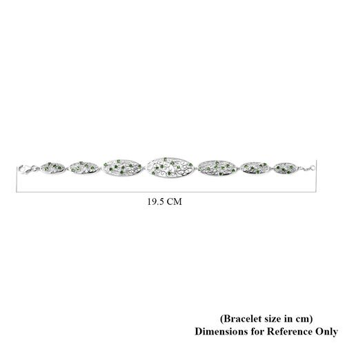 LucyQ Victorian Era Collection - AA Russian Diopside Bracelet (Size 8) in Rhodium Overlay Sterling Silver