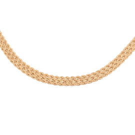 Made in Italy - 9K Yellow Gold Trilogy Rope Necklace (Size 18) with Senorita Clasp, Gold wt 6.90 Gms