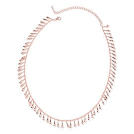 Super Auction - LucyQ - Drip Necklace (Size 22) in Rose Gold Overlay Sterling Silver, Silver wt 43.2