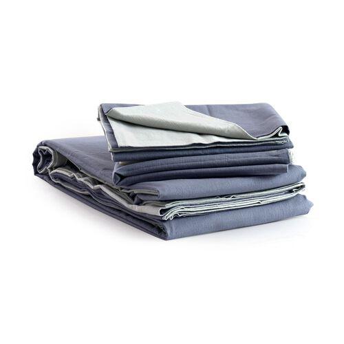 100% Cotton Blue Colour Double Duvet Cover (Size 200x200 Cm) and 2 Pillow Case (Size 75x50 Cm)