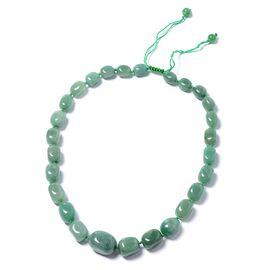 One Time Mega Deal-Green Aventurine (Tumble) Adjustable Beads Necklace (Size 18 - 32)  510.000  Ct.