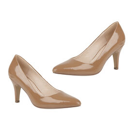 Lotus Caramel Patent Holly Court Shoes