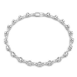 New York Close Out 14K White Gold (I1-I2/G-H) Diamond (Rnd) Bracelet (Size 7) 1.00 Ct.