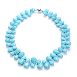 Blue Howlite and Simulated Sleeping Beauty Turquoise Necklace (Size 20)