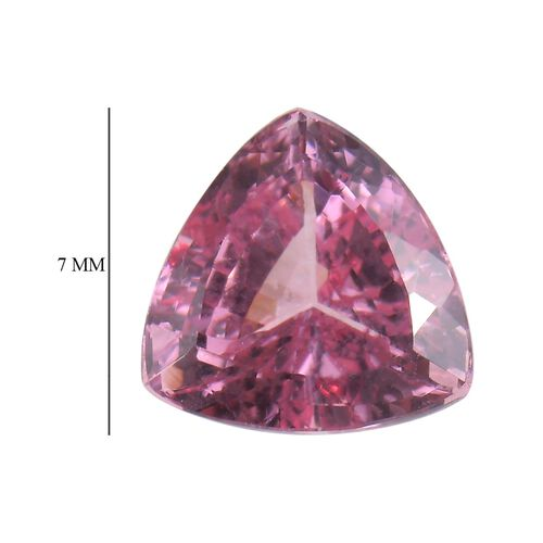 AA Rose Spinel Trillion 7 Faceted 1.22 Cts