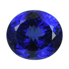 IGI Certified AAAA Tanzanite Oval Mixed Cut 19.78x17.6x13.38 mm 35.20 Cts